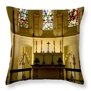 The Chapel In Chenonceau Castle Throw Pillow