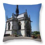 The Chapel Of Saint-hubert Amboise Throw Pillow