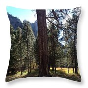 The Chapel Yosemite Throw Pillow