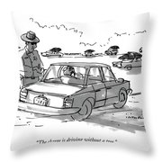 The Charge Is Driving Without A Tree Throw Pillow