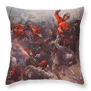 The Charge Of Drury Lowes Cavalry Throw Pillow