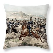 The Charge Of The Light Brigade, 1895 Throw Pillow