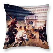 The Chariot Race 1882 Throw Pillow