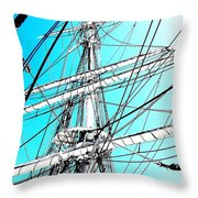 The Charles W Morgan Throw Pillow