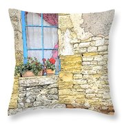 The Charme Of The Old Throw Pillow