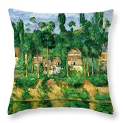 The Chateau De Medan, C.1880 Throw Pillow