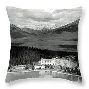 The Chateau Lake Louise Throw Pillow
