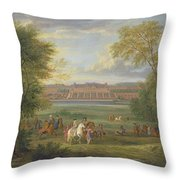 The Chateau Of Saint Germain Oil On Canvas Throw Pillow