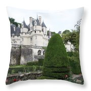 The Chateau's Towers View Throw Pillow