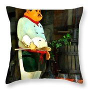 The Chef In The Window Throw Pillow