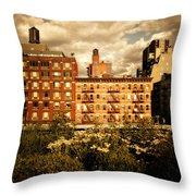 The Chelsea Skyline - High Line Park - New York City Throw Pillow by Vivienne Gucwa