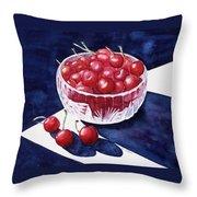 The Cherry Bowl Throw Pillow