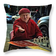 The Chess King Jude Acers Of The French Quarter Throw Pillow