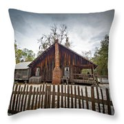 The Chesser Homestead Throw Pillow by Southern Photo