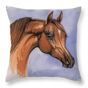 The Chestnut Arabian Horse 1 Throw Pillow