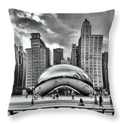 The Chicago Bean II Throw Pillow