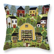 The Chicken Barn Throw Pillow