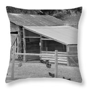 The Chicken House Throw Pillow