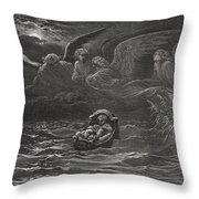 The Child Moses On The Nile Throw Pillow by Gustave Dore