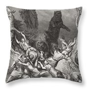 The Children Destroyed By Bears Throw Pillow