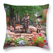 The Children Sculpture Garden - Santa Fe Throw Pillow