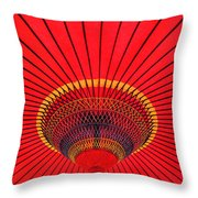 The Chinese Umbrella Throw Pillow