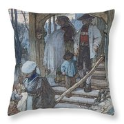 The Christening Gate In Lausanne, C.1861 Throw Pillow