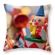 The Christmas Clown  Throw Pillow