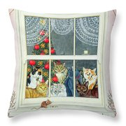 The Christmas Mouse Throw Pillow by Ditz