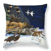 The Christmas Star Throw Pillow by Lynn Bywaters