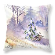 The Christmas Tree Throw Pillow
