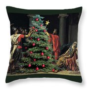 The Christmas Tree Of The Horatii Throw Pillow