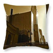 The Chrysler Building In Nyc Throw Pillow