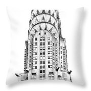 The Chrysler Building Throw Pillow by Luciano Mortula