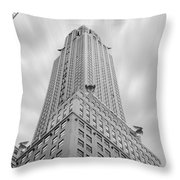 The Chrysler Building Throw Pillow