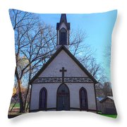 The Church At Billie Creek Throw Pillow