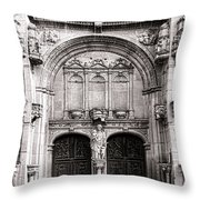 The Church At Vetheuil Throw Pillow by Olivier Le Queinec