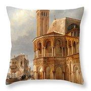 The Church Of Santa Maria E San Donato In Murano Throw Pillow
