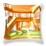 The Church On Shepherd Street Vi Throw Pillow