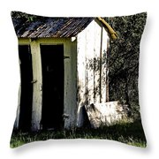 The Church Outhouse Throw Pillow