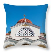 The Church Saints Constantine And Helen Throw Pillow