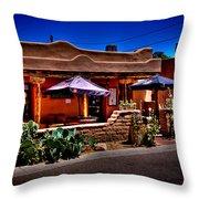 The Church Street Cafe - Albuquerque New Mexico Throw Pillow