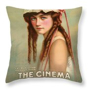The Cinema Murder  Throw Pillow