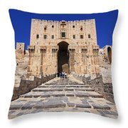 The Citadel In Aleppo Syria Throw Pillow