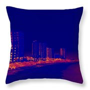 The City At The Beach Throw Pillow