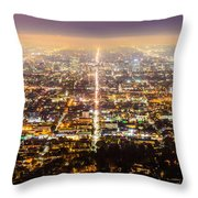 The City Grid Throw Pillow