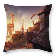 The City Throw Pillow by Kristina Vardazaryan