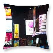 The City Never Sleeps Throw Pillow