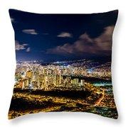 The City Of Aloha Throw Pillow