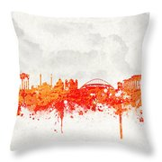 The City Of Athens Greece Throw Pillow by Aged Pixel